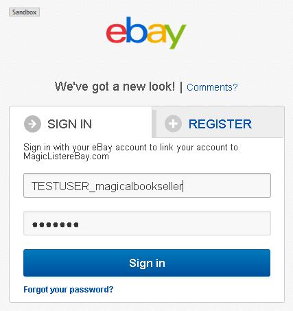ebay sign in tutorial getting tokens
