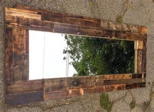 Barn Burning Tone Wood Pallet Wall Mirror Wooden Pallet Furniture