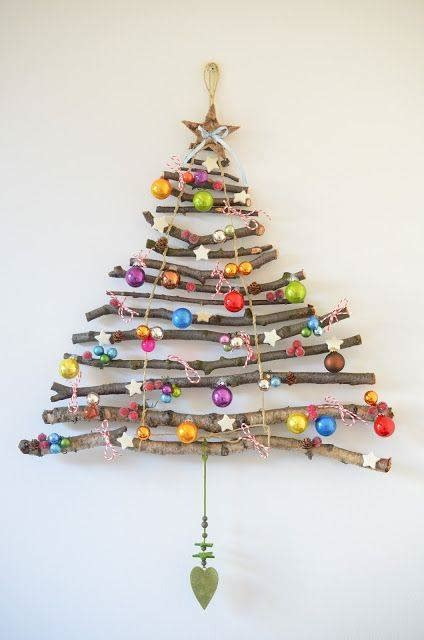christmas tree crafts from sticks fun kids pictures