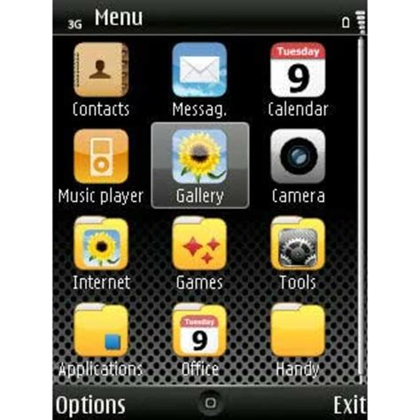 new themes s60 iphone dark theme for symbian download