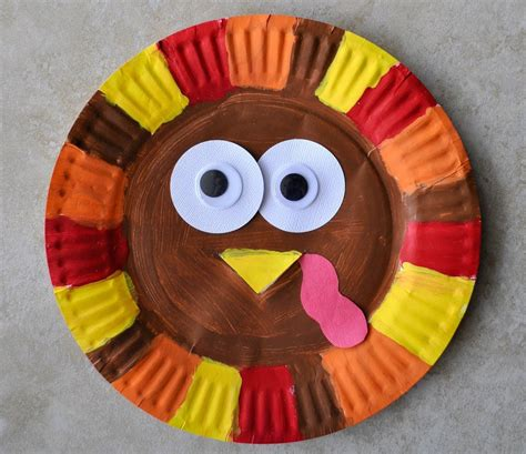 Paper Plate Turkey Crafts - paper plate turkey craft find craft ideas