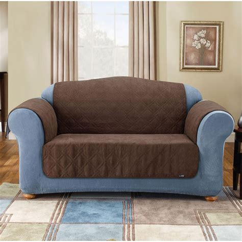 loveseat throw soft suede pet loveseat throw 48 quot brown sure fit