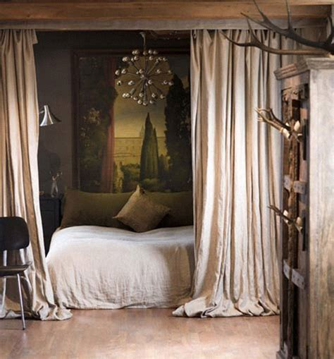 Bed With Curtains Around It | 22 brilliant ideas for your tiny apartment