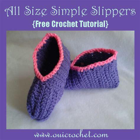crochet slipper boots tutorial oui crochet all size simple slippers free crochet tutorial