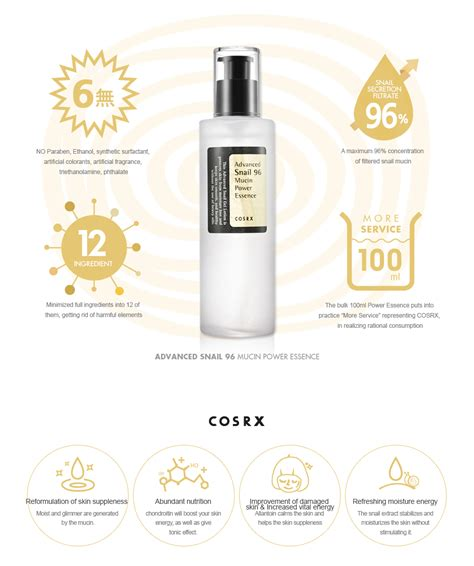 Cosrx Advanced Snail 96 Mucin Power Essence 100 Ml Original 100 Korea cosrx advanced snail 96 mucin power essence 100ml