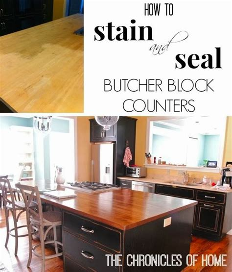 How To Seal Butcher Block Countertops by How To Stain And Seal Butcher Block Counters Stains