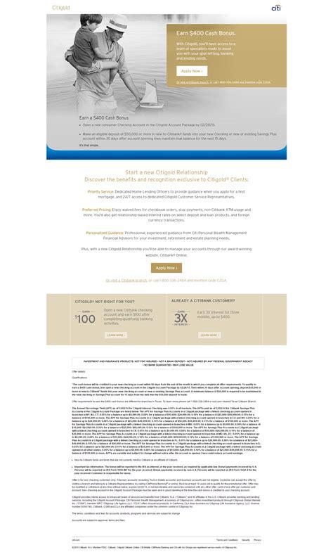 Citibank 400 Gift Card Bonus - expired citi gold 400 checking bonus doctor of credit