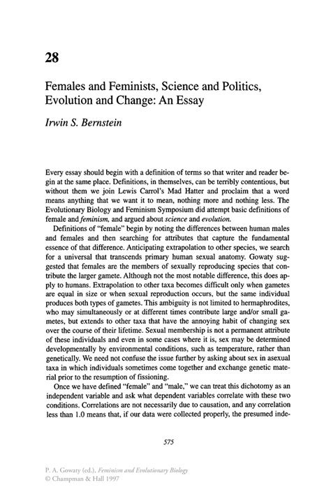lectures on evolution essay 3 from science and hebrew tradition books females and feminists science and politics evolution and