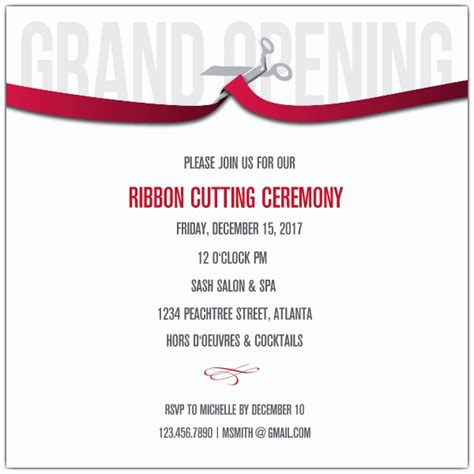 Ribbon Cutting Flyer Template ribbon cutting corporate invitations paperstyle