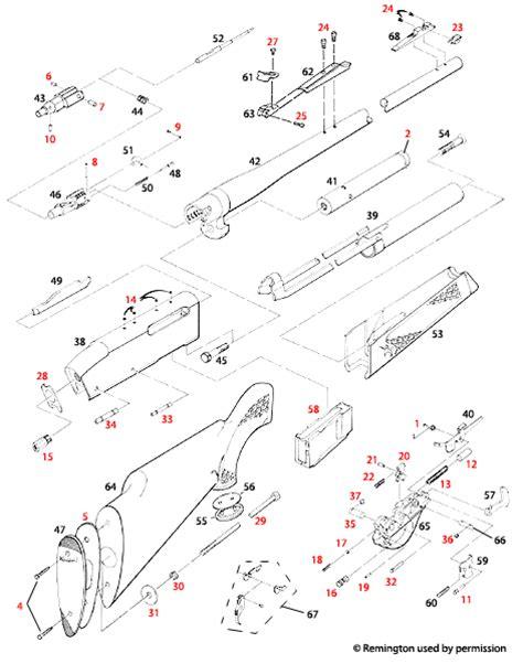 remington 870 diagram remington870partsdiagram remington 66 parts diagram