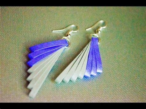 quilling paper earrings tutorial in tamil download how to make paper earrings jhumka paper