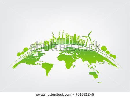 Ecology Concept Green City On Earth Stock Vector 701621245 Shutterstock Green Concept Logo Vectors