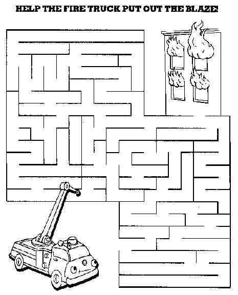 printable fire truck maze printable mazes print your medium maze fire truck puzzle