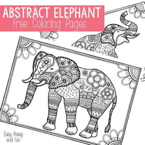 easy peasy coloring pages free elephant coloring pages for adults easy peasy and