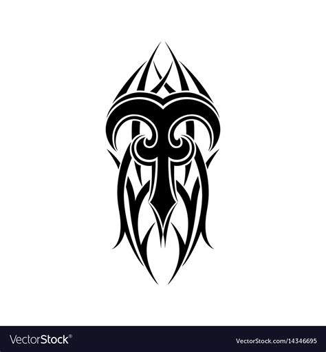 aries sign tribal royalty free vector image vectorstock aries zodiac abstract tribal design vector image