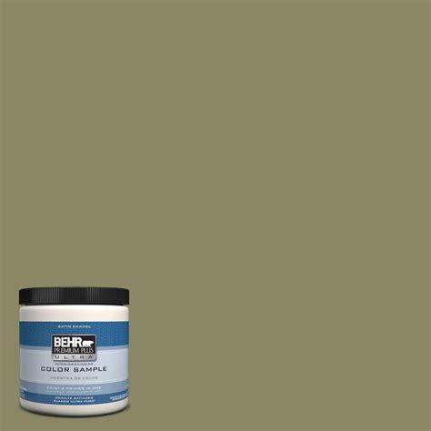 behr premium plus ultra 8 oz ppu9 23 oregano spice interior exterior satin enamel paint sle