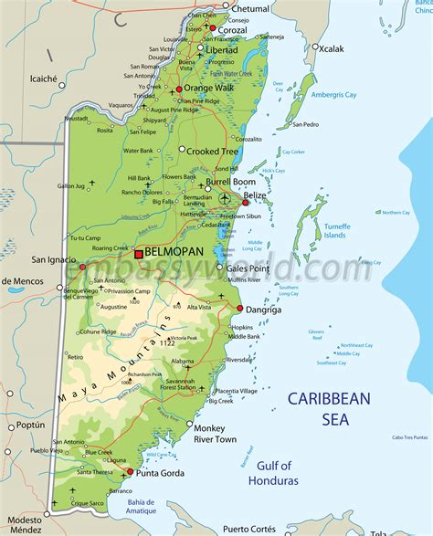 travel maps of usa maps update 10241454 belize travel map belize map free