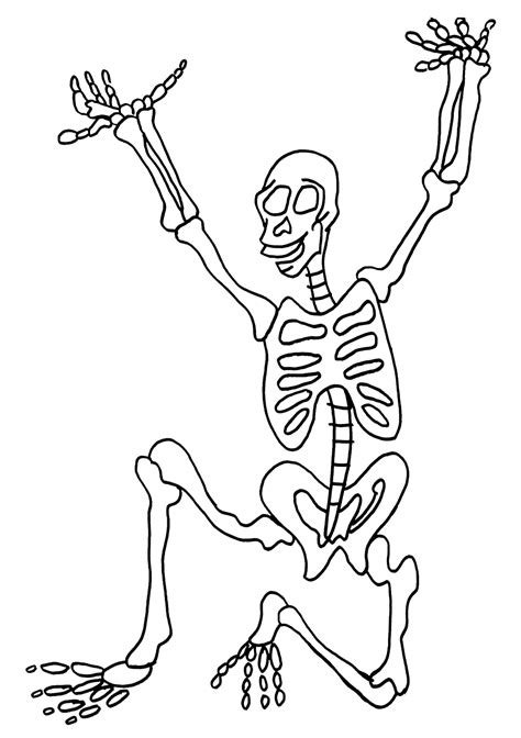 Free Printable Skeleton Coloring Pages For Kids Skeleton Color Page