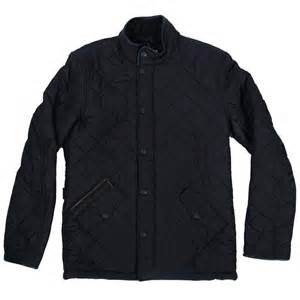 barbour powell quilted jacket black mens jackets from