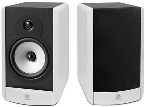 boston acoustics a26 gloss white bookshelf speakers pair
