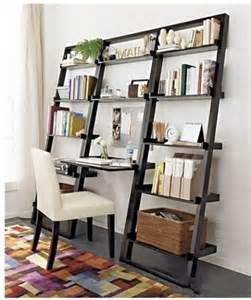 Leaning Desk And Bookshelf Space Saving Bookshelf Great Idea For A Small Office