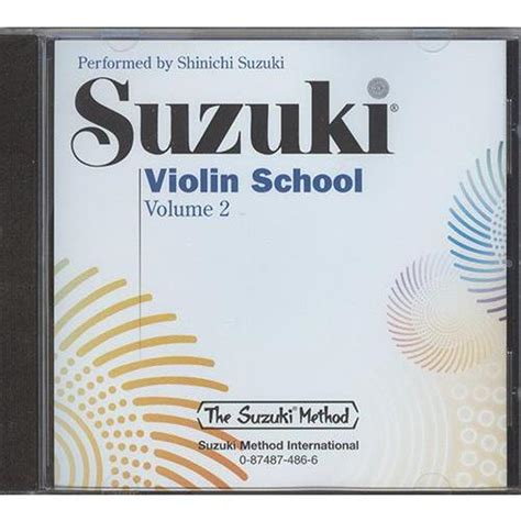 Suzuki Violin School Volume 2 Suzuki Violin School Cd Volume 2 Shar Sharmusic