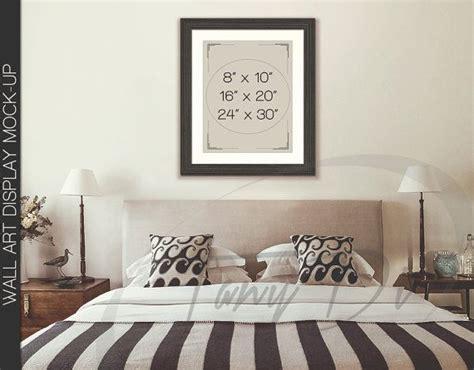 11x14 bedroom bedroom styled interior 2 dark wood frame mockup 8x10