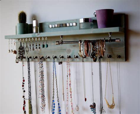 Jewelry Shelf Organizer by Jewelry Organizer With Shelf Earrings Display Wall Mounted