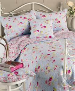 floral vintage cotton bedspread luxury shabby chic quilted reversible bed throw ebay