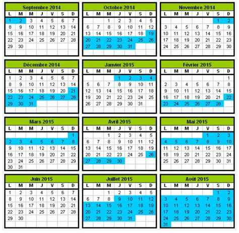 Calendrier Mars 2007 Le Calendrier Scolaire Annee 2007