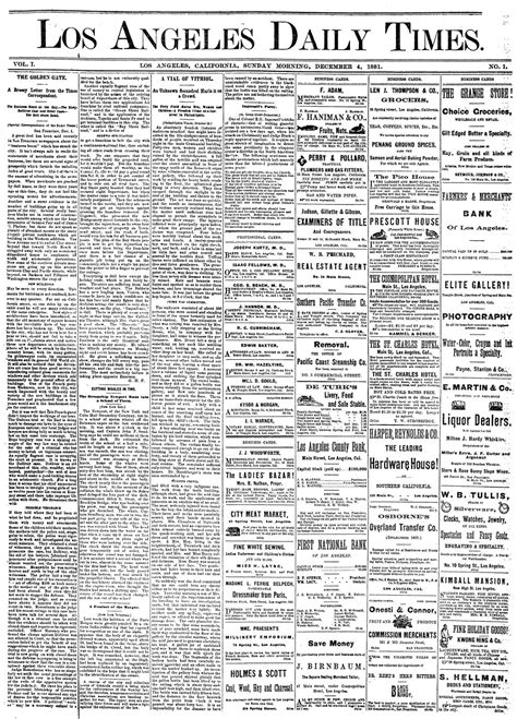 133 years of the los angeles times los angeles times