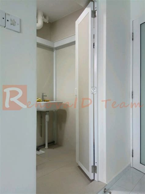 toilet swing door slide and swing toilet door promotion for hdb bto flat at