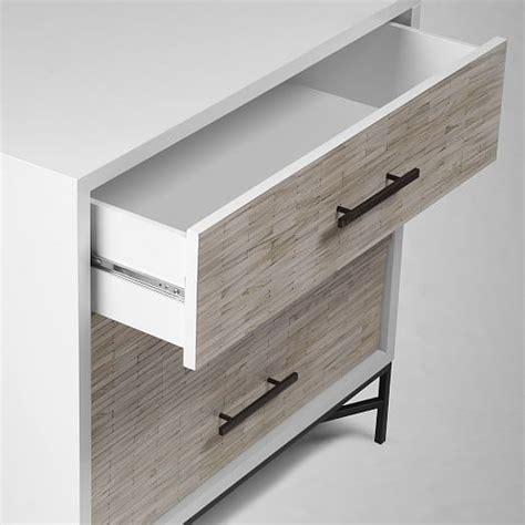 Tiled Dresser by Wood Tiled 3 Drawer Dresser West Elm