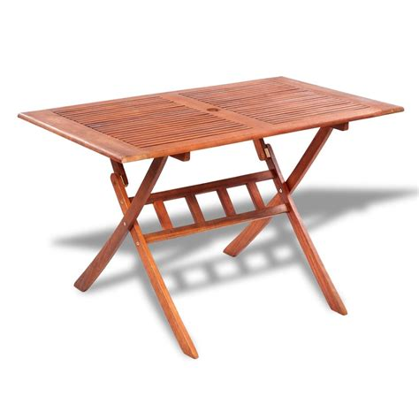 rectangular wooden outdoor dining table vidaxl com