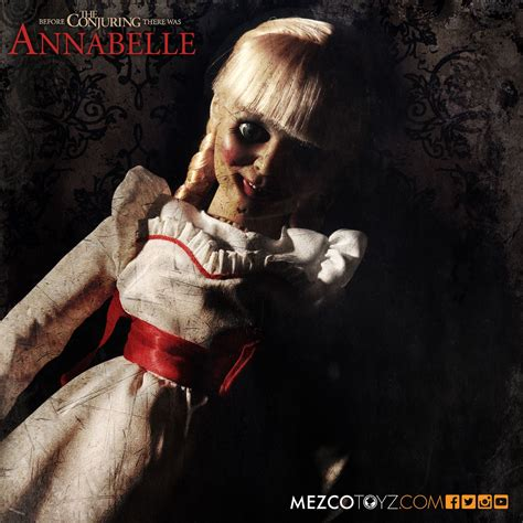 annabelle doll biography annabel doll prop replica the conjuring popcultcha mezco