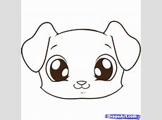 How to Draw a Puppy Face, Step by Step, Pets, Animals ... Easy Dog Face Drawing