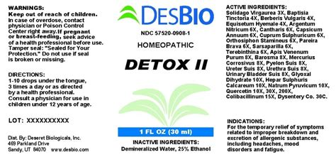 Desbio Detox by Dailymed Detox Ii Solidago Virgaurea Flowering Top
