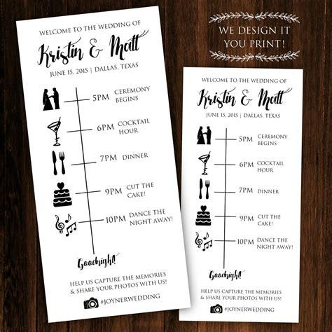 free printable wedding ceremony program templates vastuuonminun