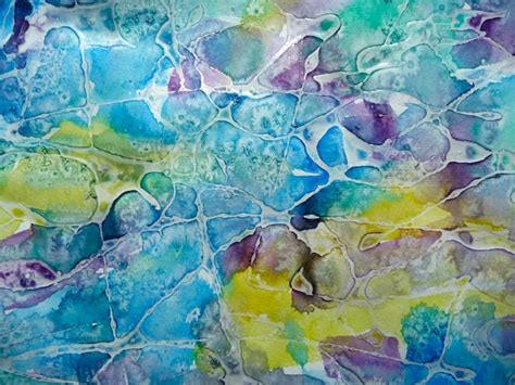 watercolour painting with salt and glue artclubblog