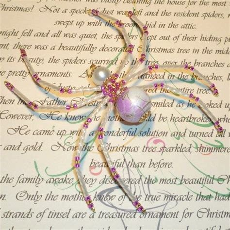 printable version christmas spider pearl hot pink and gold beaded spider ornament