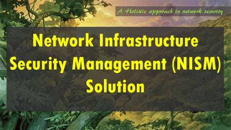 Mba In Networking Infrastructure Management network infrastructure security management solution a