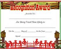 free printable most likely to blank awards certificates