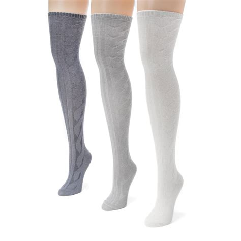 cable knit knee socks 3 pack cable knit the knee socks ebay