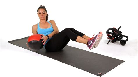 medicine ball side twists abs workout youtube