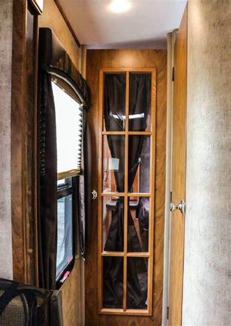 rv bedroom door orm wind river 280rls luxury travel trailers