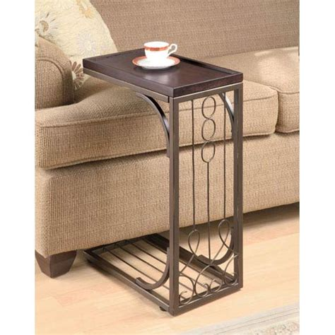sofa snack tray table living room snack table bellacor