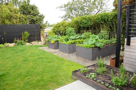 backyard urban farm company queen anne steel raised bed garden seattle urban farm
