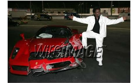 Eddie Griffin Crashes A Enzo by Enzo Damaged Beyond Repair By Eddie Griffin