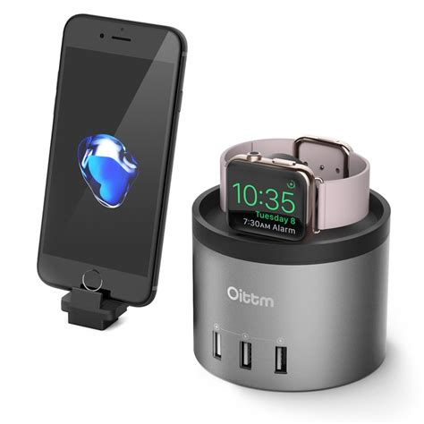 Apple Serie 3 Station by Oittm Charger Dock For Apple Series 3 2 Charging Dock Station With Phone Holder Stand For