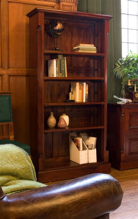 bookcases for room chateau solid mahogany furniture large living room office bookcase ebay